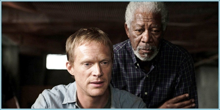 Paul Bettany y Morgan Freeman