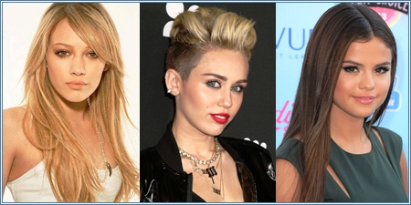 Hilary Duff, Miley Cyrus y Selena Gomez