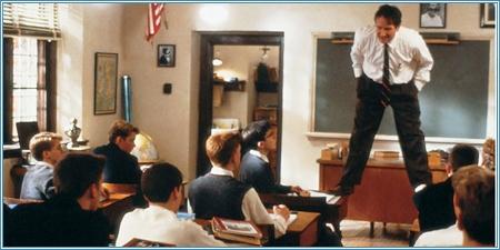 Robin Williams es el profesor John Keating