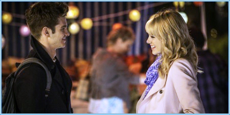 Andrew Garfield y Emma Stone son Peter y Gwen