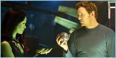 Gamora, Peter Quill y el codiciado orbe