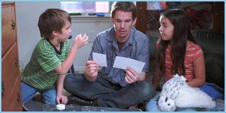 Mason, su padre y su hermana Sam