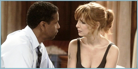 Denzel Washington y Kelly Reilly