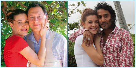 Raquel Sánchez-Silva con Michael Emerson y Naveen Andrews