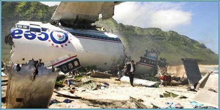 Los restos del vuelo 815 de Oceanic Airlines