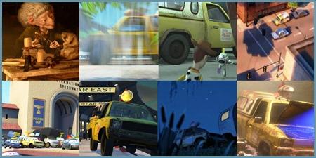 El camión de Pizza Planet en las películas de Pixar