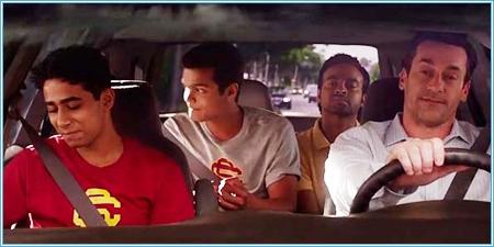Suraj Sharma, Madhur Mittal, Pitobash Tripathy y Jon Hamm