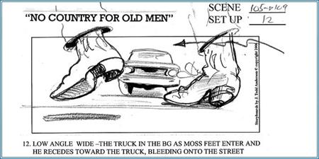 """Storyboard """"No es país para viejos"""" (2007)"""