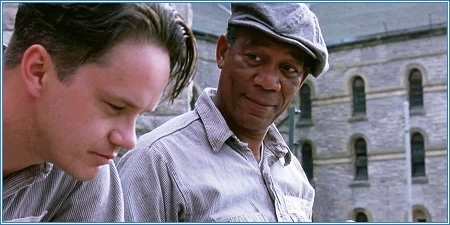 Tim Robbins y Morgan Freeman