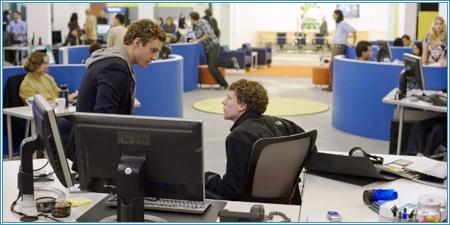 Justin Timberlake y Jesse Eisenberg