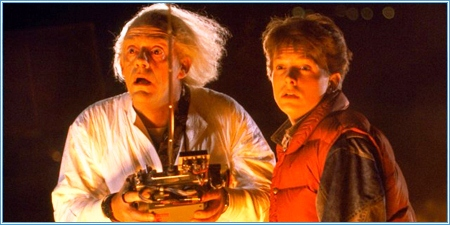 Christopher Lloyd y Michael J. Fox son Doc y Marty McFly