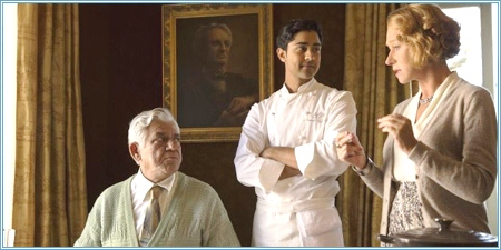 Om Puri, Manish Dayal y Helen Mirren