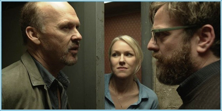 Michael Keaton, Naomi Watts y Zach Galifianakis