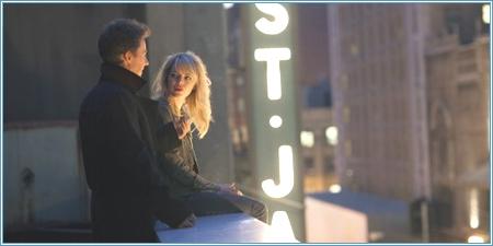 Edward Norton y Emma Stone en la azotea del teatro St. James