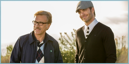Christoph Waltz y Chris Pine