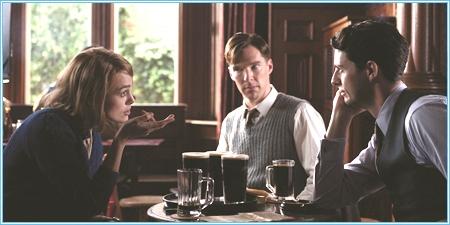 Keira Knightley, Benedict Cumberbatch y Matthew Goode