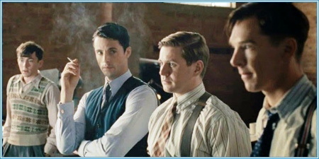 Matthew Beard, Matthew Goode, Allen Leech y Benedict Cumberbatch