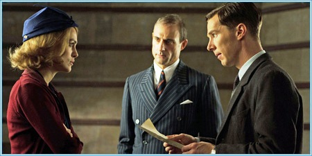 Keira Knightley, Mark Strong y Benedict Cumberbatch