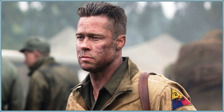 Brad Pitt es el sargento 'Wardaddy'