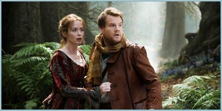 Emily Blunt y James Corden son el panadero y su mujer