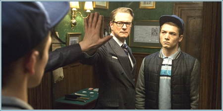 Colin Firth y Taron Egerton