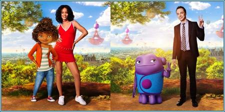 Rihanna y Jim Parsons con sus personajes