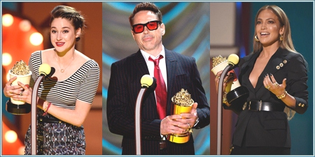 Shailene Woodley, Robert Downey Jr. y Jennifer Lopez