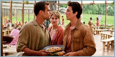 Theo James, Shailene Woodley y Milles Teller