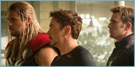 Thor, Tony Stark y Steve Rogers