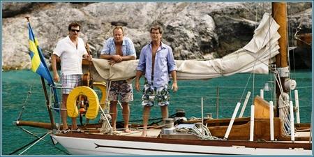 Colin Firth, Stellan Skarsgård y Pierce Brosnan