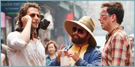 Bradley Cooper, Zach Galifianakis y Ed Helms