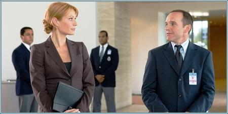 Gwyneth Paltrow y Clark Gregg