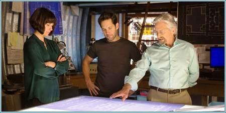 Evangeline Lilly, Paul Rudd y Michael Douglas