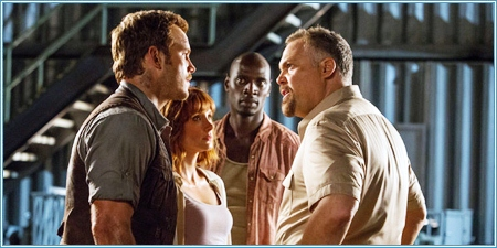 Chris Pratt, Bryce Dallas Howard, Omar Sy y Vincent D'Onofrio