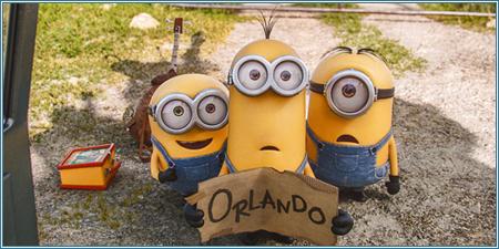 Bob, Kevin y Stuart haciendo auto stop