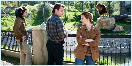 Patrick Fugit, Matt Damon y Scarlett Johansson