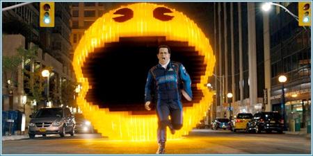 Josh Gad huyendo de Pac-Man