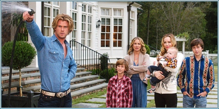 Chris Hemsworth, Steele Stebbins, Christina Applegate, Leslie Mann y Skyler Gisondo