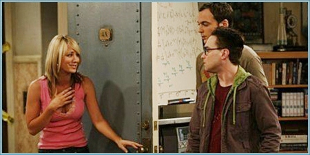 Penny, Sheldon y Leonard