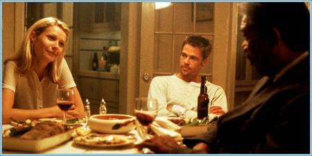 Gwyneth Paltrow, Brad Pitt y Morgan Freeman