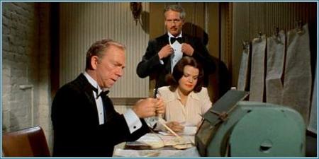 Ray Walston, Paul Newman y Eileen Brennan