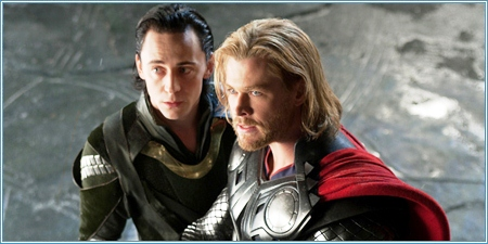 Tom Hiddleston y Chris Hemsworth