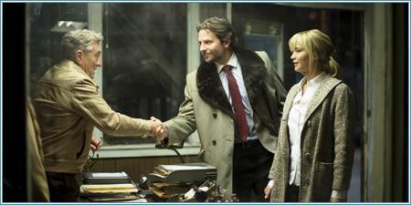 Robert De Niro, Bradley Cooper y Jennifer Lawrence