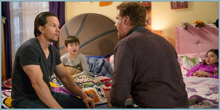 Mark Wahlberg, Owen Vaccaro, Will Ferrell y Scarlett Estevez