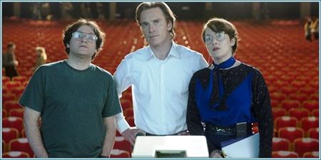 Michael Stuhlbarg, Michael Fassbender y Kate Winslet