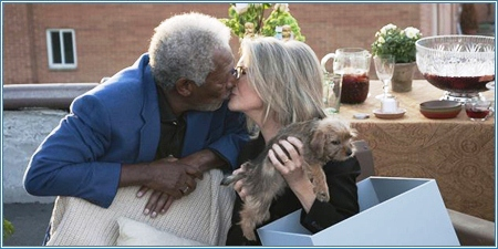 Morgan Freeman y Diane Keaton