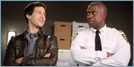 Andy Samberg y Andre Braugher son Jake Peralta y el Capitán