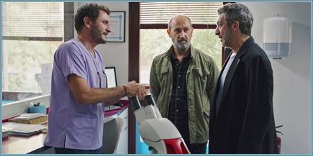 Alex Brendemühl, Javier Cámara y Ricardo Darín
