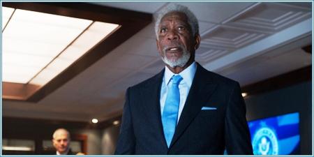 Morgan Freeman es el vicepresidente Trumbull