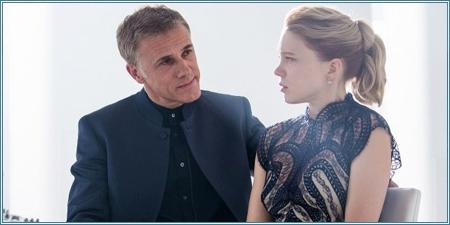 Christoph Waltz y Léa Seydoux